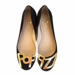 Kate Spade Toast Pop Fizz Suede Flats Size 7
